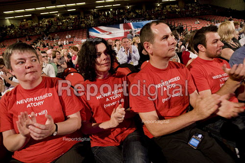 Never Kissed a Tory, never will T-shirt. Labour Party Conference. Brighton. - Jess Hurd - 2009-09-27