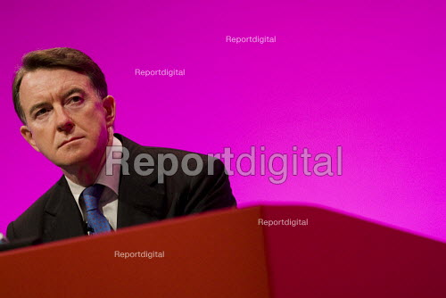 Peter Mandelson MP, Labour Party Conference 2009. Brighton. - Jess Hurd - 2009-09-28