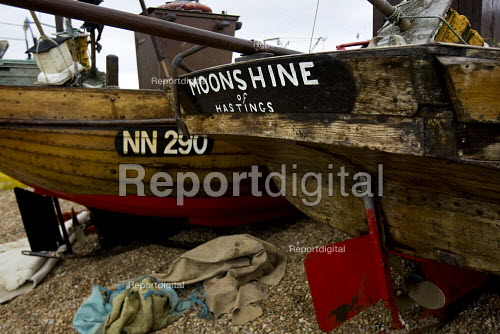 Beached fishing boats Hastings part of the biggest beach launched fishing fleet in Europe - Jess Hurd - 2009-10-03