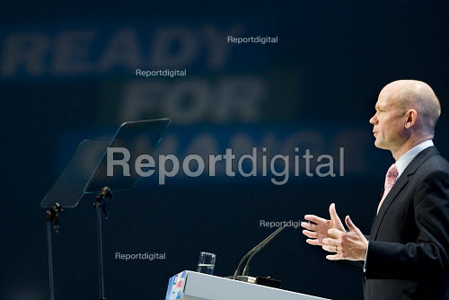 William Hague MP. Conservative Party Conference 2009. Manchester. - Jess Hurd - 2009-10-05