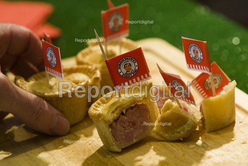 Gordon Browns Porky Pies, pork pies lies. Conservative Party Conference 2009. Manchester. - Jess Hurd - 2009-10-05