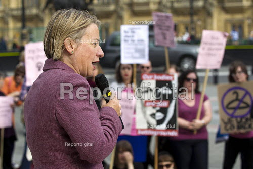 Green Party Leader Natalie Bennett. International Day of Action for Safe and Legal Abortion. Abortion Rights is calling for: Rights for women in Northern Ireland, an end to anti-choice harassment outside abortion clinics and Global decriminalisation of abortion. Westminster Parliament, London. - Jess Hurd - 2012-09-29