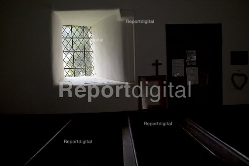 The Leper Window, positioned at an angle so that those with leprosy could see the pulpit from outside the church. Mary Jones Chapel. The Devils Valley or Nant yr Eira Valley. Snowdonia National Park. Wales. - Jess Hurd - 2014-10-29