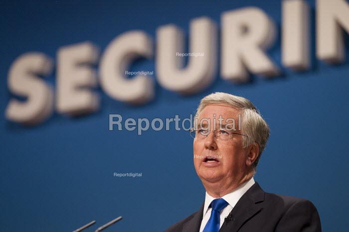Michael Fallon MP. Conservative Party Conference, The ICC Birmingham - Jess Hurd - 2014-10-01