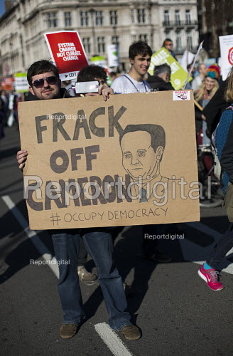 Frack off Cameron.Time to Act! Climate Change National Demonstration. London. - Jess Hurd - 2015-03-07