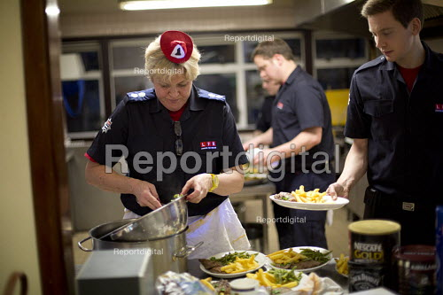 Sian Griffiths, White Watch Manager. Retiring after 30 years and one of the first LFB female firefighters. Paddington Fire Station. London. - Jess Hurd - 2015-03-24