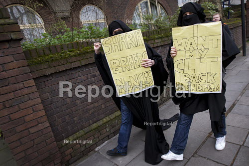 Supporters of Britain First and EDL gather to oppose Anjem Choudary, whose group hands out leaflets urging Muslims not to vote. Central London mosque. Regents Park. London. - Jess Hurd - 2015-04-03