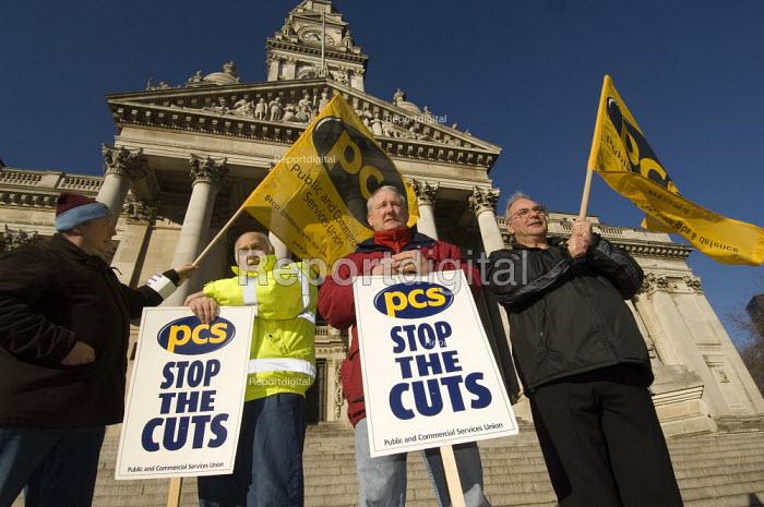 Rally of PCS members. PCS civil service union strike. Portsmouth, Hampshire - Paul Carter - 2007-01-31