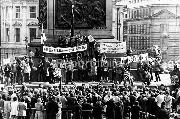 British Movement demonstration, in London. - John Sturrock - 1976-04-24