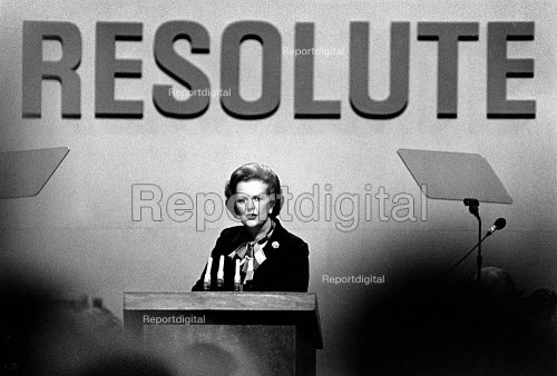 Margaret Thatcher at Conservative Party Conference, in 1982. - John Sturrock - 1982-10-08