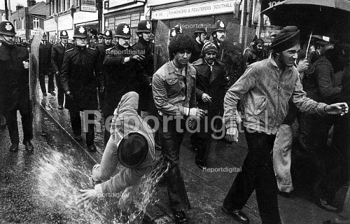 Black youth protest after Blair Peach was killed, Southall, London 1979 - John Sturrock - 1979-07-24