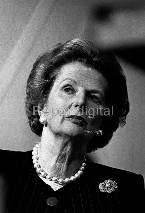 Margaret Thatcher, Conservative Party Conference, Brighton, 1988. - John Sturrock - 1988-10-12