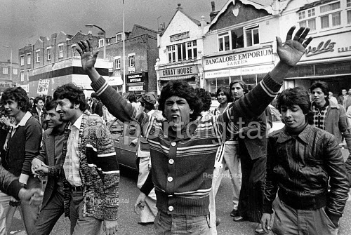 Southall Riot. Before the National Front meeting, youths attempted to block the centre of Southall. Police intervened and there were many arrests. - John Sturrock - 1979-04-23