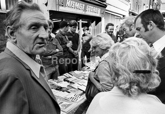 National Front Bookstall, Brick Lane, London 1982 - John Sturrock - 1982-08-29