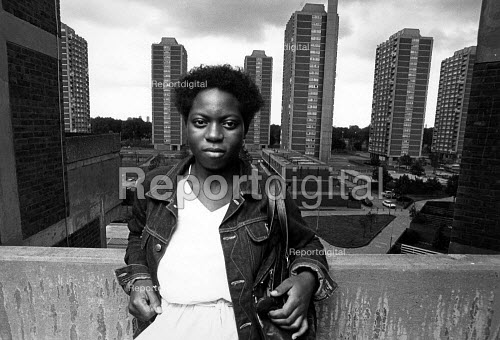 A resident of the Nightingale Estate, in Hackney. - John Sturrock - 1986-04-10
