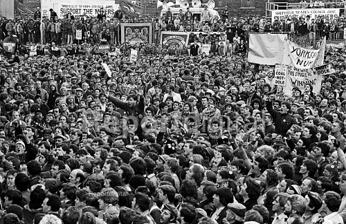Lobby of the Special Delegate Conference that made the strike official, Sheffield, Yorkshire - John Sturrock - 1984-04-19