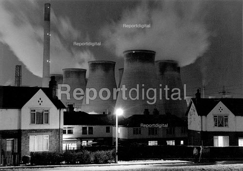 Ferrybridge power station after snow, Knottingley, Yorkshire - John Harris - 1985-01-10