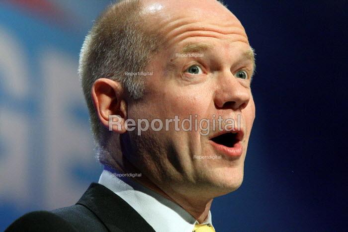 William Hague speaking at the Conservative Spring Forum. Brighton. - Justin Tallis - 2010-02-27