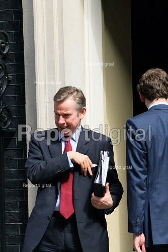 Michael Gove MP leaving Downing Street, Westminster, London. - Justin Tallis - 2010-06-22
