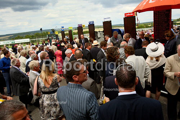 Bookmaker taking bets. Goodwood racecourse. - Justin Tallis - 2010-07-29