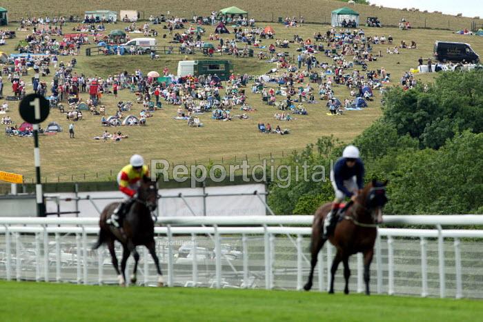 Racegoers watching at race at Goodwood racecourse. - Justin Tallis - 2010-07-29