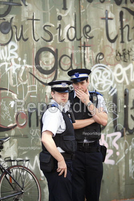 PCSO on patrol East London. - Justin Tallis - 2010-09-03