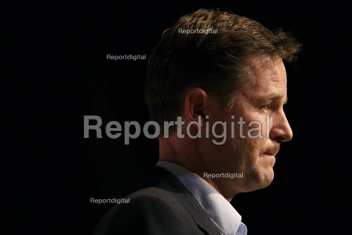 Deputy Prime Minister Nick Clegg doing a question and answer session at the 2010 Liberal Democrat conference. Liverpool. - Justin Tallis - 2010-09-19