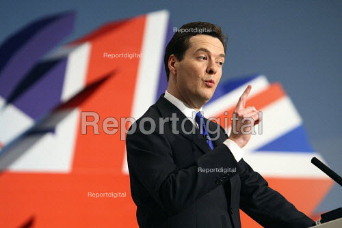George Osborne giving his speech at the 2010 Conservative Party Conference, Birmingham. - Justin Tallis - 2010-10-04