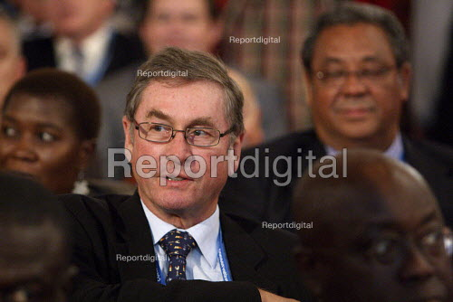 Lord Ashcroft listens to David Cameron giving his leaders speech to the 2010 Conservative Party Conference, Birmingham. - Justin Tallis - 2010-10-06