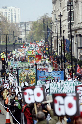 Thousands of protesters march through London calling for an end to the war in Afghanistan. Called by Stop the War Coalition, CND and the British Muslim Initiative. - Justin Tallis - 2010-11-20