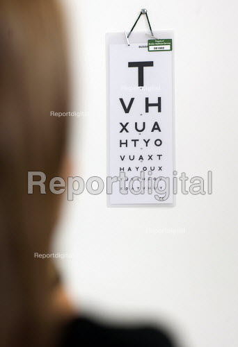 Report Digital Eye Test Using A Snellen Chart Used For Visual