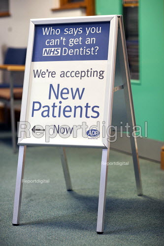 Southmead dental practice in the NHS Southmead Health Centre, Bristol. - Paul Box - 2009-09-02