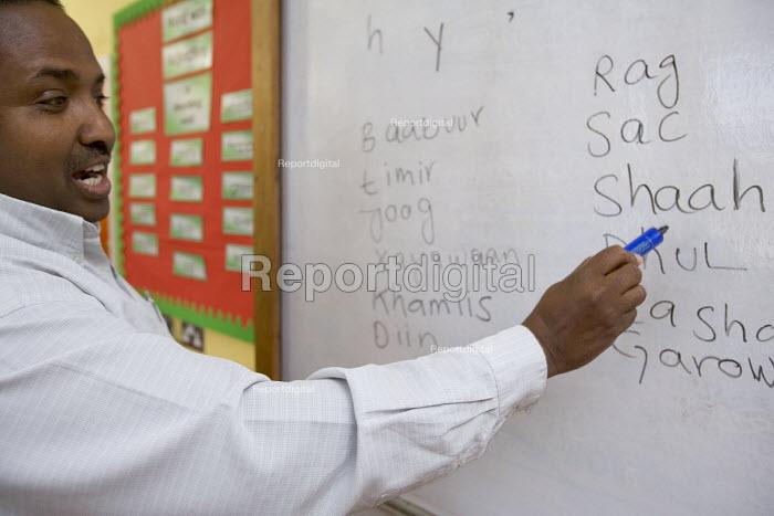 Fitzalan High school, Cardiff. Somali pupils are taught their native language. - Paul Box - 2005-12-07