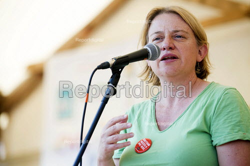 Natalie Bennett Leader of the Green Party speaking at The Tolpuddle Martyrs Festival. Tolpuddle - Paul Box - 2013-07-21