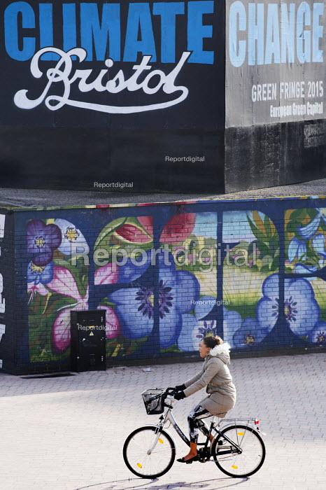 Climate change Billboard, the Bearpit, Bristol, European Green Capital - Paul Box - 2015-02-03