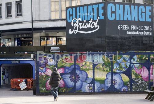 Climate change Billboard, the Bearpit, Bristol, European Green Capital - Paul Box - 2015-02-03