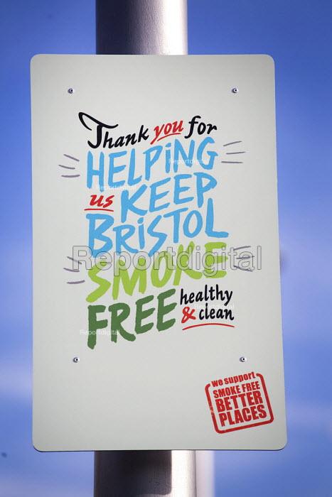Uk's First smoke free zone, Millennium square, Harbourside, Bristol, European Green Capital - Paul Box - 2015-02-03