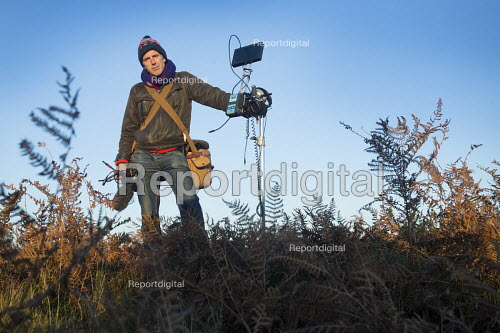 Filming on The Quantock Hills, Somerset. - Paul Box - 2014-11-18