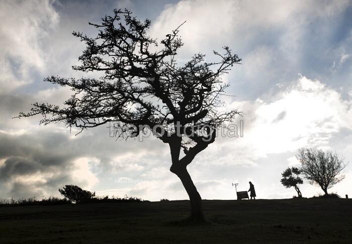 A performance poet, The Quantock Hills, Somerset. - Paul Box - 2014-11-18