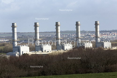Pembroke Gas power station, a combined cycle gas turbine (CCGT) plant, Pembrokeshire. - Paul Box - 2015-03-26
