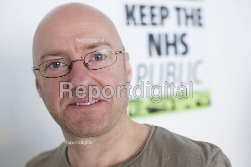 Patrick Harvie, leader Scottish Green Party and MSP at The Green Party Headquarters, Bristol. - Paul Box - 2015-04-17