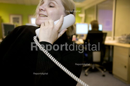A visually impaired employee at work, in an office. - Paul Box - 2005-12-12