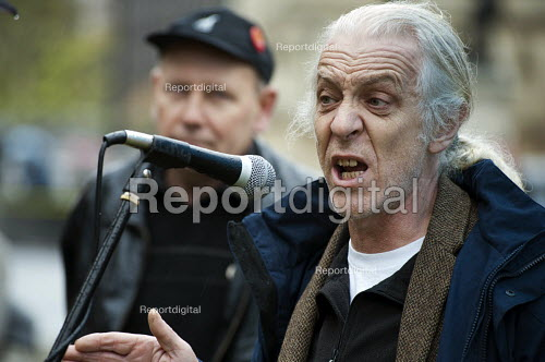 Ivan Monckton, Unite Executive Council. Farm workers protest outside Parliament at government plans to scrap the Agricultural Wages Board, which protects 154,000 rural workers' pay, terms and conditions. - Philip Wolmuth - 2012-11-12