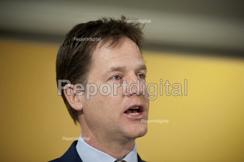 Nick Clegg. Liberal Democrat pre-election press conference, Westminster, London. - Philip Wolmuth - 2015-04-12