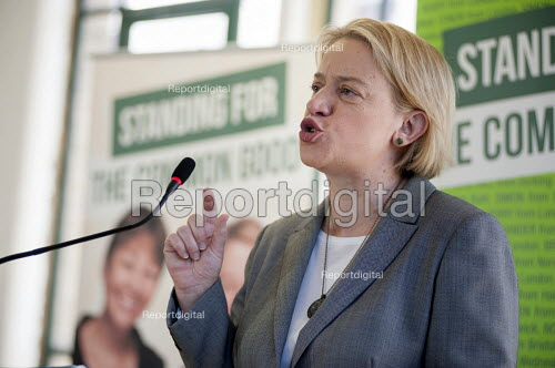 Natalie Bennett. Green Party general election manifesto launch, Dalston, London. - Philip Wolmuth - 2015-04-14