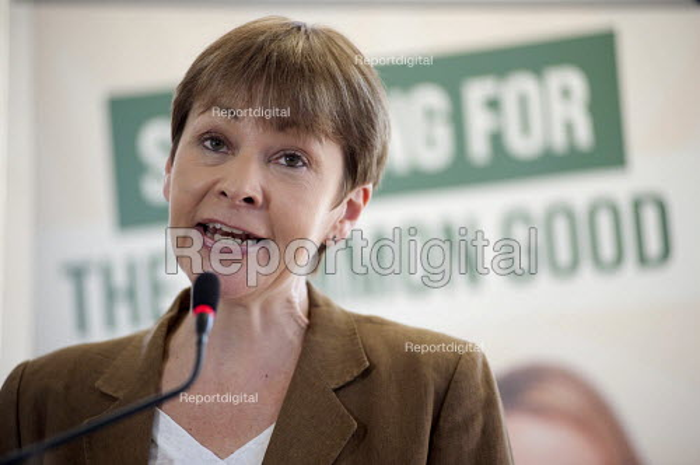 Caroline Lucas. Green Party general election manifesto launch, Dalston, London. - Philip Wolmuth - 2015-04-14