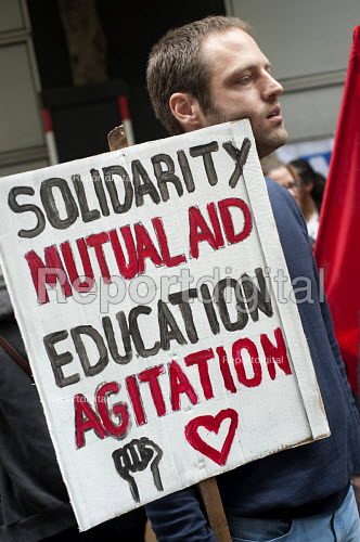 Solidarity, Mutual Aid, Education, Agitation. End Austerity Now, national demonstration organised by the Peoples Assembly, London. - Philip Wolmuth - 2015-06-20