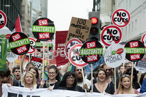 Diane Abbott MP and Charlotte Church. End Austerity Now, national demonstration organised by the Peoples Assembly, London. - Philip Wolmuth - 2015-06-20
