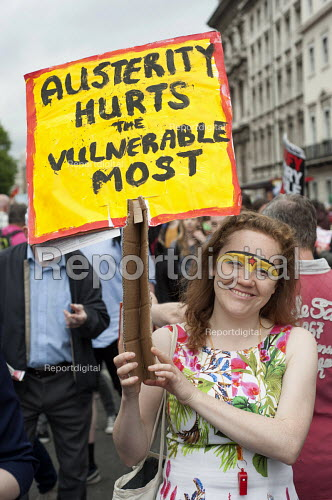 End Austerity Now, national demonstration organised by the Peoples Assembly, London. - Philip Wolmuth - 2015-06-20