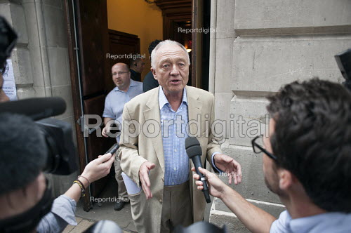 Ken Livingstone speaking to journalists, Grassroots for Jeremy. 1500 people attend a rally in support of Jeremy Corbyn for Labour Leader. Camden Centre, London - Philip Wolmuth - 2015-08-03